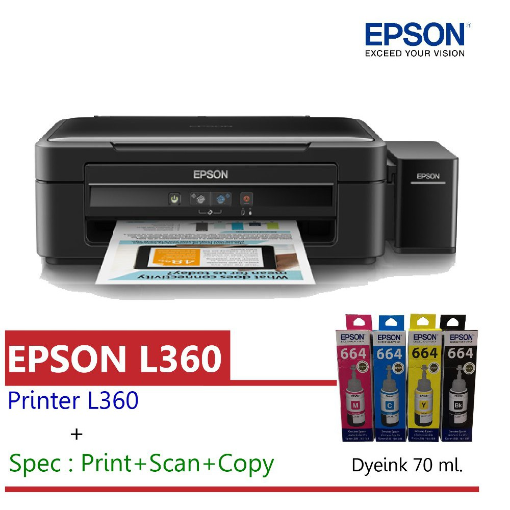 epson l360printer black- study on internet